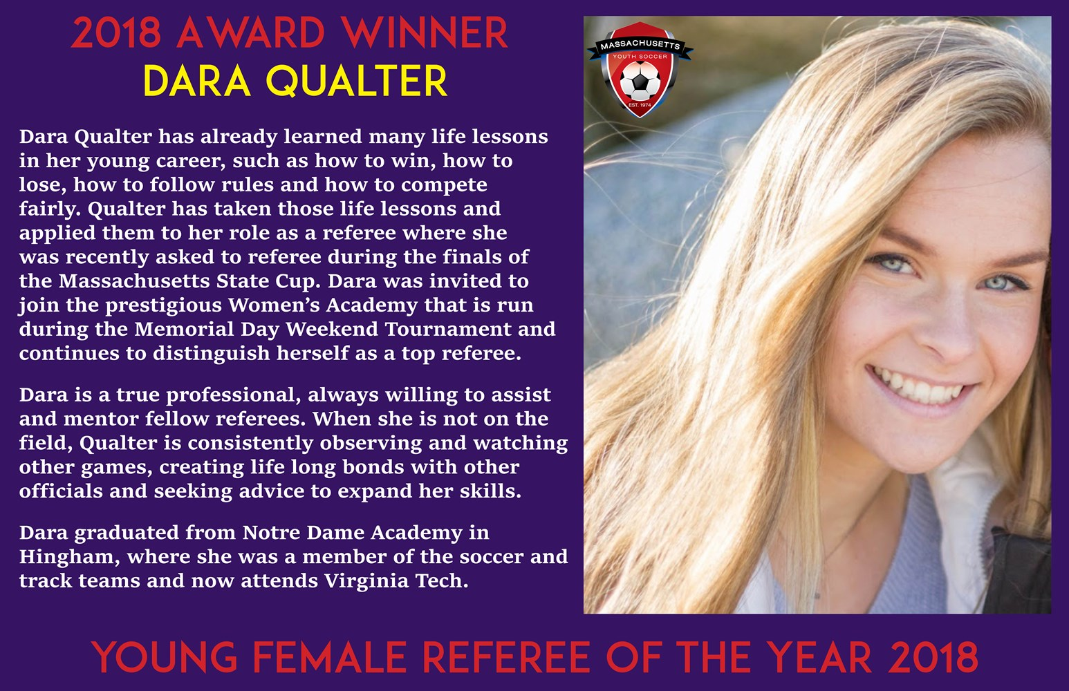 2018_Young_Female_Referee-_Dara_Qualter