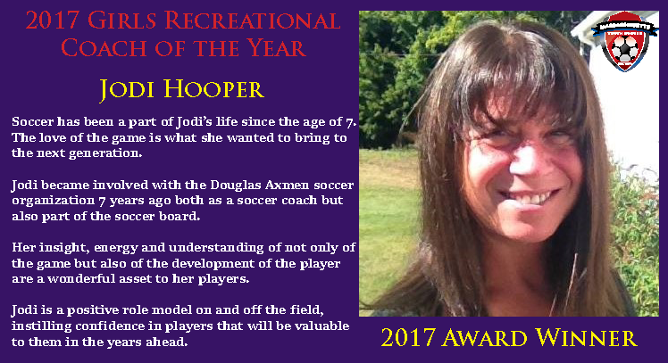 2017 Girls Rec Coach - Jodi