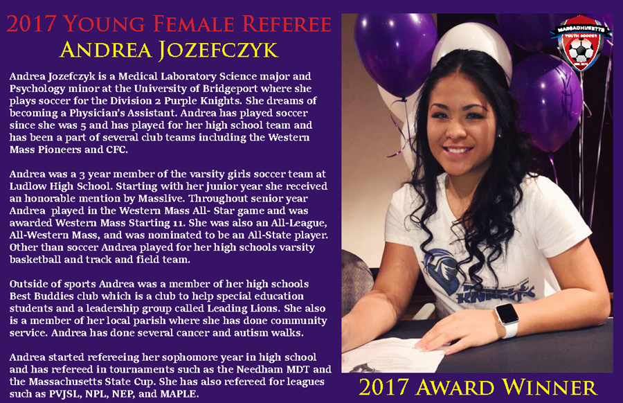 2017 Young Female Referee - Andrea